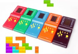 Discount tetris console - Portable Handled Developmental Children Toys Educational Game Players High Quality Tetris Game Toy console gifts For Kid
