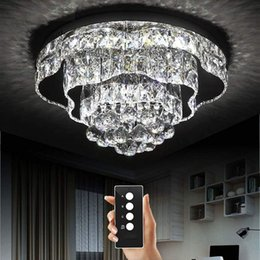 $enCountryForm.capitalKeyWord NZ - 3 brightness crystal light living room lamps ceiling lights Chrome crystal ceiling lights LED bedroom restaurant lamp with remote control