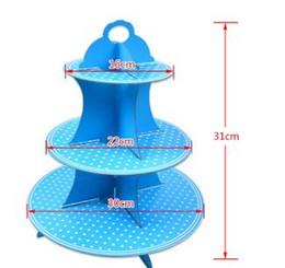 $enCountryForm.capitalKeyWord NZ - 30pcs Thicker Paper Cake Rack Foldable 3 Tier Cupcake Stand For Birthday Party Wedding Dessert Holder Hot Sale lin4241