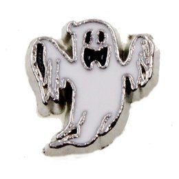 $enCountryForm.capitalKeyWord NZ - 30pcs lot free shipping Halloween white ghost good quality alloy DIY floating charms for glass living memory lockets