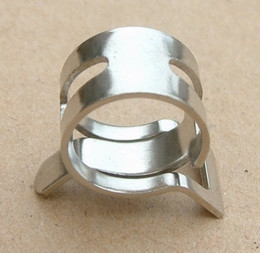 Cool Water Pipes Australia - Silver Hose Clamp 3 8'' Tube Pipe Clamp Clips Fasteners for OD 15.9mm Water Cooling Pipes
