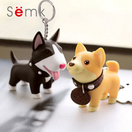 key ring puppy Australia - SEMK Lovely Doggi Keychains Realistic Dog Puppy Key Rings PVC Sisi Torri Terri Hutti Dogs Thanksgiving Gifts Car Key Rings