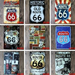 $enCountryForm.capitalKeyWord NZ - Wholesale 40 Styles Route 66 Retro Metal Signs Tin Painting Home Decor Posters Crafts Supplies Wall Art Pictures Decor Xmas Gift