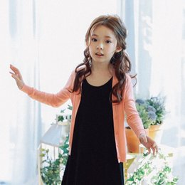 Discount teens summer clothes - Girls Clothes Summer Spring Sweaters Baby Girl Outfit Teen Girl Hand-knit Cotton Cardigan Children Sweater 4 6 10 12 14