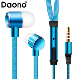 Shoelace headSet online shopping - New Metal shoelace Shape Earphones Noise Isolating Headset Headphones Universal MM With Mic auriculares for Mobile Phone