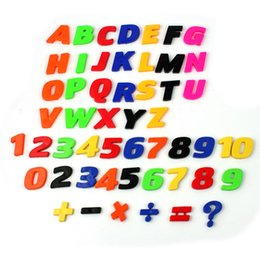 $enCountryForm.capitalKeyWord NZ - 52pcs Magnet Letter Fridge Early Learning Set Letters & Numbers Refrigerator Toy Colorful Teaching Kids Early Learning