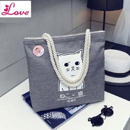 Cute Animal Tote Bags Canada - Lucia_shop Women Shoulder Bag Waterproof Canvas Casual Tote Bag Print Cute Animal Multi-function reusable shopping bag Bolsas