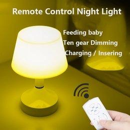 Télécommande Night Light Dimmable Protection des yeux Lampe de table Bébé Allaitement maternel Charge Luminaire Dortoir Fournitures