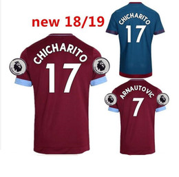 da9e659e2cf4 18 19 West Ham United soccer jersey CHICHARITO ZABALETA KOUYATE CARROLL  LANZINI PAYET NOBLE J.MARIO 2018 2019 football shirt