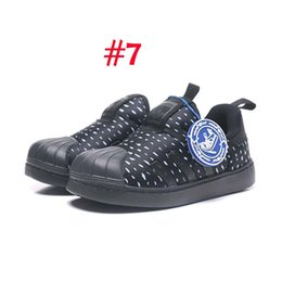Brand High Board Shoes UK - brand children's sneakers high quality boys and girls sneakers casual leather sports shoes brand high tube board shoes