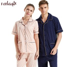 Underwear & Sleepwears Men's Sleep & Lounge Plus Size Summer Short-sleeved Shorts Plaid Pajama Suit European Mens Cotton Mens Pyjama Sexy Sleepwear Men Pijamas Big Size Profit Small