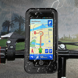 Waterproof Motorcycle Handlebar Phone Holder Stand Armor Outdoor Support For IPhone X 7 6s 8 Plus 5s Bicycle Bike GPS Bag