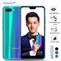 H Case Australia - Full Cover Tempered Glass For Huawei honor10 Screen Protector Film Guard Case 9 H Premiun Protective Glass For honor 10 5.84''
