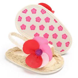 Baby Girl Cute Sandals Australia - Infant Girls Baby Shoes Anti-slip Flower Cute Toddler Sandals Shoes Summer Baby Girls 0-18M