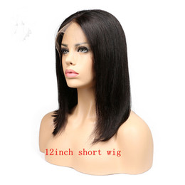 $enCountryForm.capitalKeyWord Australia - Full Lace Wig Bob Human Hair Wigs For Black Women Human Hair Lace Front Wigs Natural Black 1B #2 #4 Brown Bleached Knots