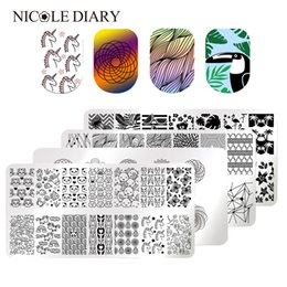 $enCountryForm.capitalKeyWord Australia - Cartoon Unicorn Panda Stamping Template Football Flower Geometry Stamp Plate Rectangle Nail Art Image Plate