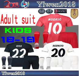 4e679258f champions league adult 2018 2019 real Madrid modric MODRIC Marcelo soccer  jerseys men kids Kit 18 19 ASENSIO ISCO RAMOS BALE Football Shirt