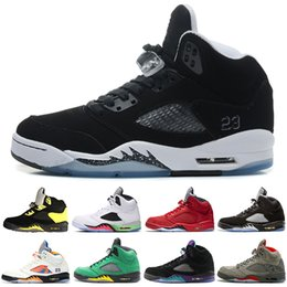 hockey trophies Canada - Last 5 Basketball Shoes Mens Women 5s V Green Suede Olympic Grape Cement Stars Take Flight Premium Pinnacle Trophy Room Brand Shoe Sneakers