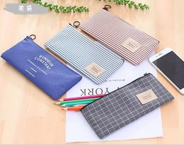 pencil case bag stationery holder NZ - Hot Stationery Canvas Pencil Case school Pencil Bag School pencilcase Office School Supplies Pen bag Pencils Writing Supplies Gift