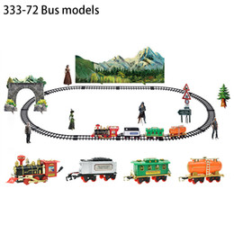 pink car set UK - New RC Train Children's Traffic Toys Remote Control Conveyance Car Electric Steam Smoke RC Train Slot Set Model Toy For Kid Gift