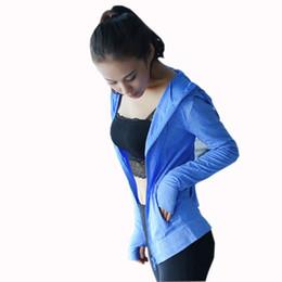 Yoga Pants Jacket UK - Women's Yoga Top Yoga Shirt Zipper Long Sleeves Sports Shirts Hoodie Sport Top Fitness Women Running Gym Workout Sports Jacket