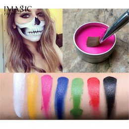Body Art Face Paint NZ - IMAGIC Face Body Paint Halloween Makeup Body Art Oil Painting for Party Cosplay Paint Tools Clown Pigments Temporary Tattoos Primer