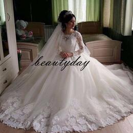 East African Wedding Dresses Australia - African Wedding Dresses For Nigerian Bride 2019 Modest Middle East Church Vintage Wedding Dress Bridal Gown Zipper back