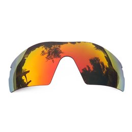 187d2f76753e Orange Red Mirrored Polarized Replacement Lenses for Radar Pitch Sunglasses  Anti Saltwater Anti dust