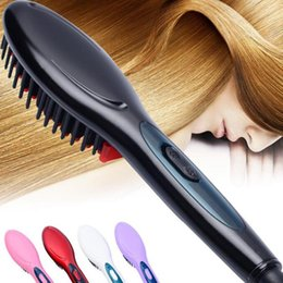 Rohs massageR online shopping - 2018 Electric hair straightener brush Hair Care Styling Comb Auto Massager Straightening Irons SimplyFast Hair iron