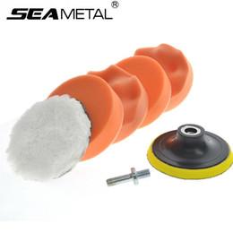 Vente en gros Brosse de lavage de voiture de nettoyage éponge épilation à la cire de lavage Tampons de polissage cosmétiques Kit composé de feutre Universal Supplies Auto Accessoires
