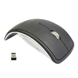 ultrathin laptop UK - New Ultrathin 2.4GHz Foldable Wireless Arc Optical Mouse Mice with Mini USB Receiver for Pad PC Laptop Notebook Computer