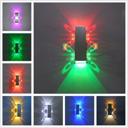 $enCountryForm.capitalKeyWord NZ - Aluminum 2W led light fixture Up and 3D Night down led wall lamp batteryfly modern fashion wall light indoor decoration AC85-265V