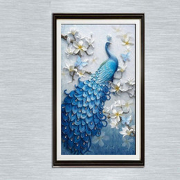 b763c7d57a Gorgeous 30*40cm Peacock 100% Full 5D Diamond Painting Kit Decoración Del  Hog Home Decor Wall Art Square Diamond Craft Supplies