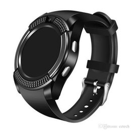 Bluetooth Smart Watch Sim Australia - V8 Smart Watch Bluetooth Watches Android with 0.3M Camera MTK6261D Smartwatch for apple android phone Micro Sim TF card drop shipping