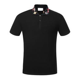 $enCountryForm.capitalKeyWord UK - Brand New High street Luxury designer mens polos Fashion casual men polo embroidery bee snake polo t shirts