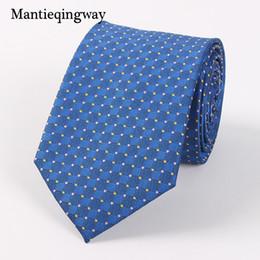 Discount 7cm neckties - Mantieqingway Brand Men's Necktie Dot Business Formal Ties for Men & Women 7CM Tie Polyester Gravata Wedding Party Gifts