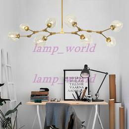 New Lindsey Adelman Globe Branching Bubble Chandelier Glass Suspension Hanging Pendant Light Lamp 1 5 7 8 Heads