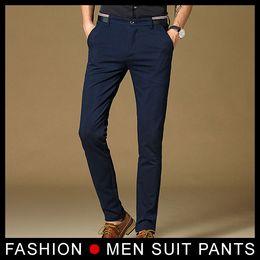 579577825ea New 2017 High Quality Mens Fashion Slim Fit Suit Pants Navy Men Skinny Formal  Pants Business Blazer Pant Black trousers