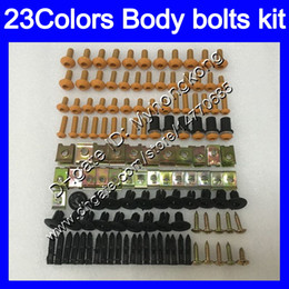 Chinese  Fairing bolts full screw kit For KAWASAKI NINJA ZZR-250 ZZR 250 90 91 92 93 94 ZZR250 95 96 97 98 99 Body Nuts screws nut bolt kit 25Colors manufacturers