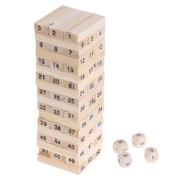 $enCountryForm.capitalKeyWord NZ - Wooden Stacked Model Tower Building Blocks Kids Educational Toys intelligent developing Stacked Building Blocks with Dice Hobby