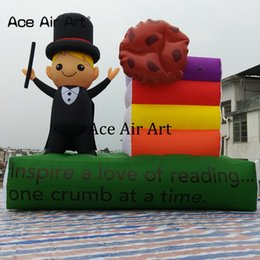 $enCountryForm.capitalKeyWord NZ - Customized durable model inflatable teacher with books with base and free standing,teacher and biscuit replica made by Ace Air Art