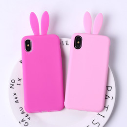 Rabbit Silicone Phone Cases UK - For Iphone 7 Phone Cases Cute Rabbit Cartoon Silicone All Inclusive Injection Molding Animal Cell Phone Case For Iphone 6 X 8 Plus