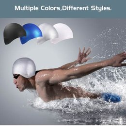$enCountryForm.capitalKeyWord NZ - 3D Silicone Swimming Cap - Waterproof Short   Long Hair Swim Cap for Adults Men and Women