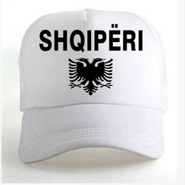 21fd893cae8 ALBANIA eagle male free custom name number albanian shqiperi alb flag al boy  print lightweight mens word walking diy logo Advertising Caps