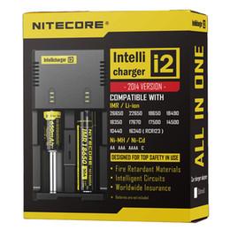 Meilleure vente Nitecore I2 chargeur universel pour 16340/18650/14500/26650 batterie US UE AU UK Plug 2 en 1 Intellicharger Chargeur de batterie