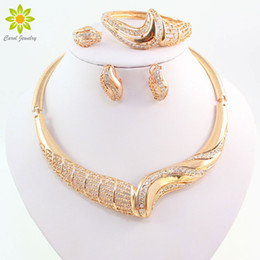 Jade Dresses Australia - jewelry brass Women Jewelry Sets For Wedding Accessories African Beads Crystal Pendant Statement Dress Necklace Earrings Bracelet Ring Set