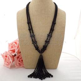 """Necklaces Pendants Australia - N060404 26"""" 2Strands Onyx Necklace CZ Pendant"""