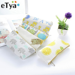 wholesale small travel makeup bag NZ - eTya Women Travel Toiletry Pencil Make Up Makeup Case Storage Pouch Cosmetic Bag Purse Small Cosmetics Lipstick Brush Organizer