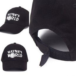 4254050a Trucker fashion online shopping - Wayne World Black Cap Hat Baseball Caps  Costume Fashion Style Cosplay