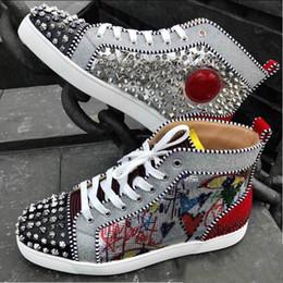 bec28ed0c029  Original Box  Original vogue New Rantus Orlato Men s Flat Graffiti  Sneakers Men Red Bottom Shoes